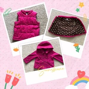 3T Girl Winter Coat Bundle